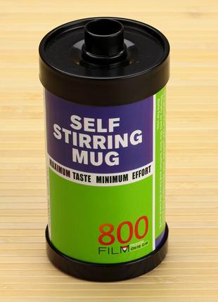 Термокружка с миксером HONO фотопленка 800, зеленая, film self...