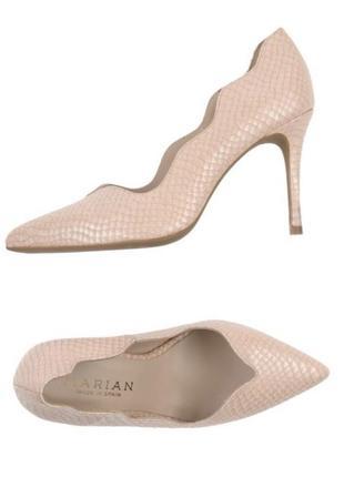 Туфли-лодочки нежно-розовые натуральные