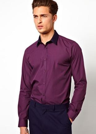 Asos рубашка мужская slim fit.