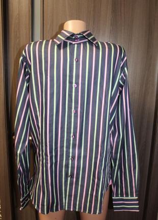 Мужская хлопковая рубашка jones в идеальном состоянии m