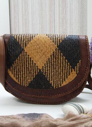Очаровательная сумка elliot lucca, кожа, соломка