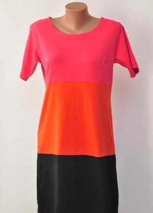 Весеннее трехцветное платье