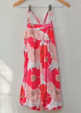 Летнее платье в цветочек из 100% хлопка