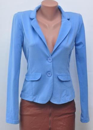 Пиджак голубого цвета