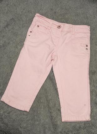 Розовые джинсовые бриджи. tm next