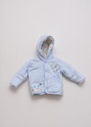 Теплая курточка для младенцев с капюшоном.  до 3- месяцев. 100...