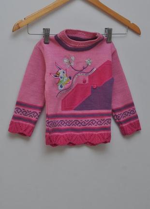 Теплый розовый свитер