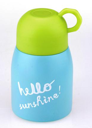 Термос Hello Sunshine голубой 33 wishes