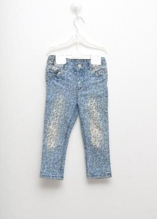 Стильные джинсы-скини с леопардовым принтом