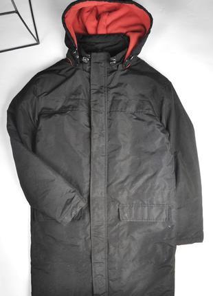 Молодежная удлиненная куртка с капюшоном