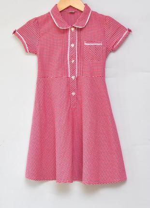 Милое платье ретро из натуральной ткани