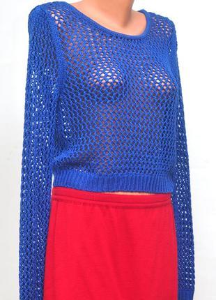 Вязанный короткий свитер