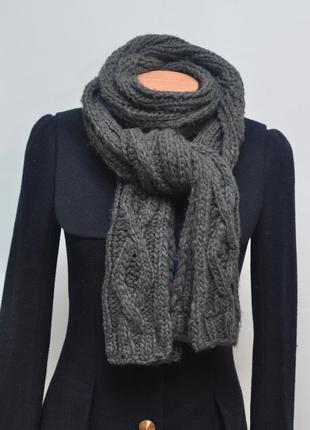 Теплый длинный шарф