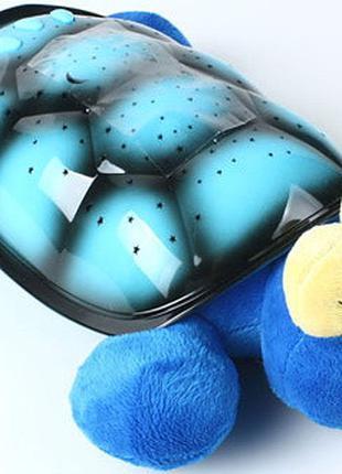 Проектор звездного неба, ночник Черепаха Кетти, синяя
