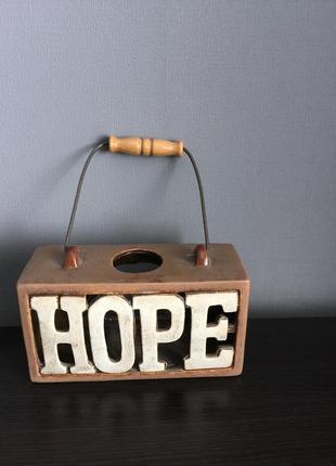 Подсвечник керамический hope.