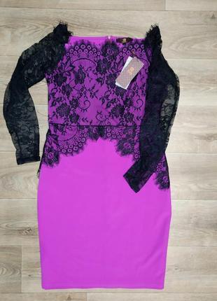 Новое платье с кружевом isassy