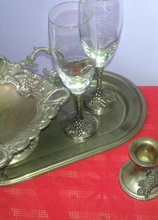 Романтический набор посуды для двоих-винтаж
