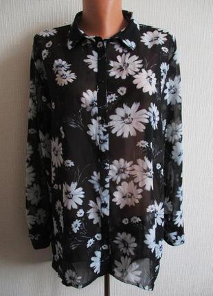 Шифоновая блуза принт ромашки atmosphere