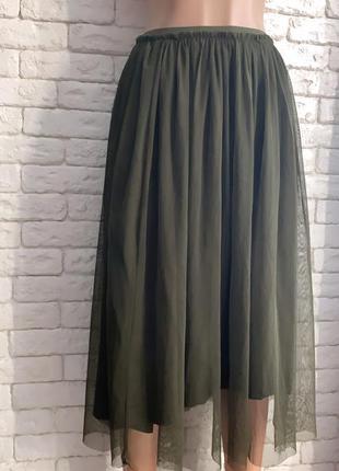 Изумрудная юбка плиссе