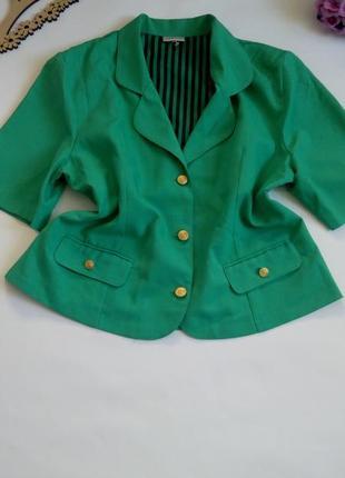 Пиджак жакет классический  50 52   размер короткий новый
