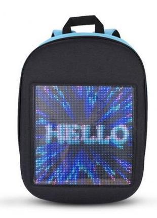 Рюкзак со светодиодным экраном 15.6' UFT LED Bag Blue унисекс