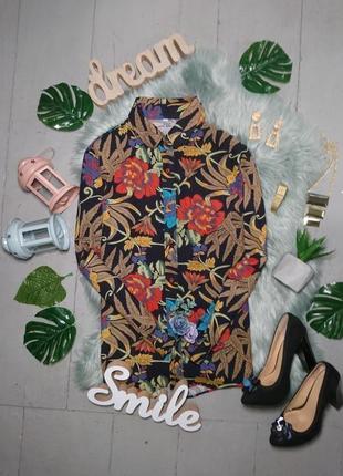 Актуальная винтажная рубашка в яркий цветочный принт №5max