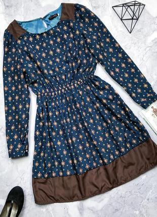 Красивое платье в принт tenax