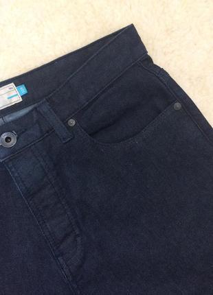 Крутые тёмно-синие зауженные джинсы на болтах slim fit