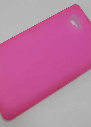 Чехол на LG Optimus 4X HD P880 TPU матовый, малиновый