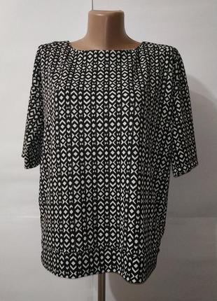 Блуза стильная неопреновая в елочку next uk 10/38/s