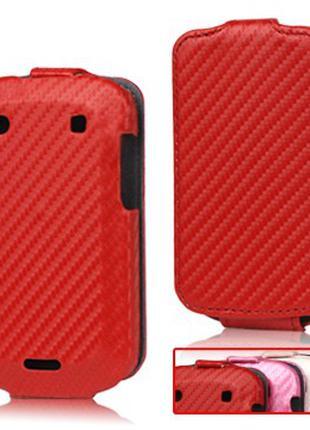 Чехол книжка для BlackBerry Bold 9900 / 9930, карбон (розовый,...