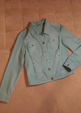 Джинсовая куртка tcm нежного мятного цвета, размер xl