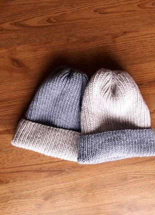 Вязаные шапки мужская, женская