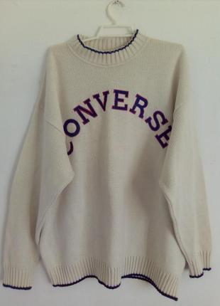 Стильный белый свитер праздничный батал на 54-56р