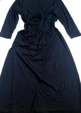 Платье миди 48 50 размер офисное бюстье нарядное с рукавом нов...