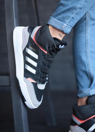 Шикарные мужские кожаные кроссовки adidas  (весна/ лето/ осень)