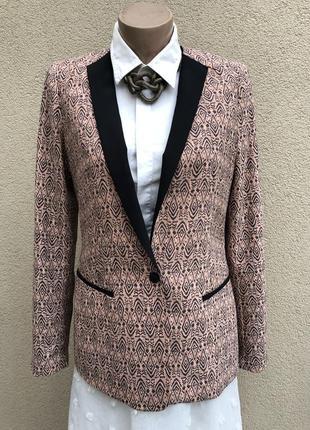 Стильный жакет,пиджак,блейзер в принт,