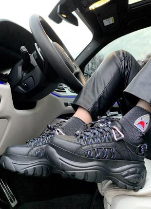 Buffalo london black женские кроссовки