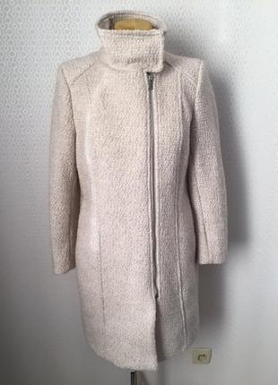 Полушерстяное пальто ткань букле большой размер евр 44, укр 50...