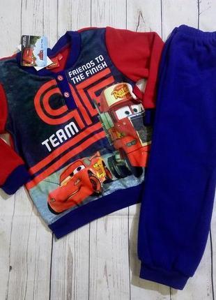 Флисовые пижамы 98-128 дисней яркие, теплые, отличного качества