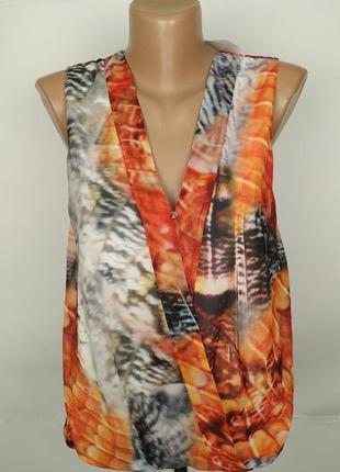 Блуза новая легкая красивая h&m uk 10/38/s