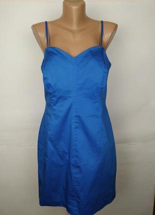 Платье новое голубое красивое uk 14/42/l