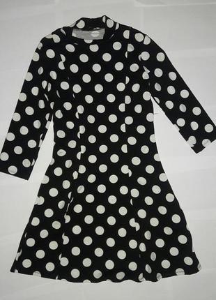 Платье в горошек с-м