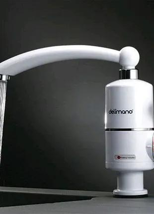 Проточный водонагреватель бойлер кран Delimano