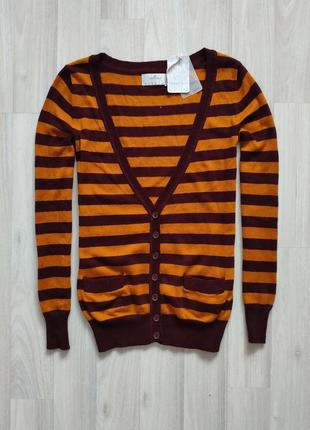 Женский пуловер кардиган на пуговицах с