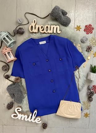 Актуальная шифоновая блуза с коротким рукавом №46max