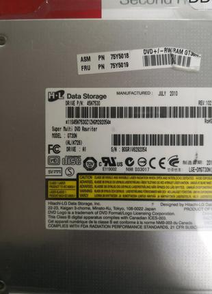 Привод для ноутбука внутренний DVD±RW Hitachi LG GT30N бу