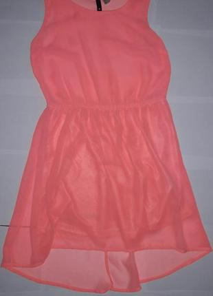 Яркое шифоновое платье хс-с