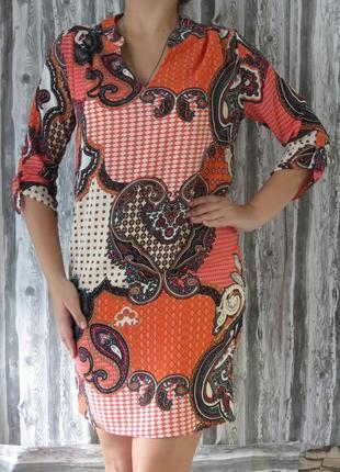 Платье прямого кроя с длинным рукавом размер44-46 большой выбо...