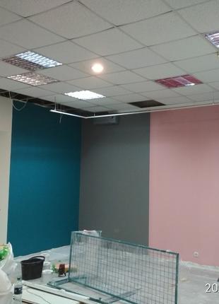 Безвоздушная покраска стен и потолков